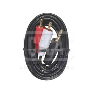 CABLE ADAPT. 2-RCA PLUG A ST PLUG 3.5MM (AH205R)